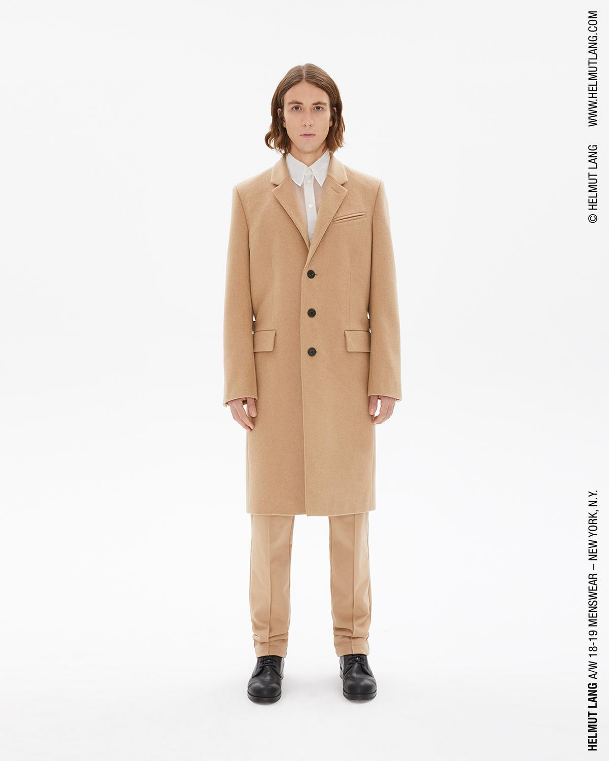 3 BUTTON SINGLE BREASTED WOOL COAT