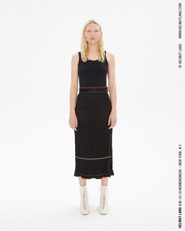 2695c6d56d Helmut Lang Black Crinkle Pleated Skirt | WWW.HELMUTLANG.COM
