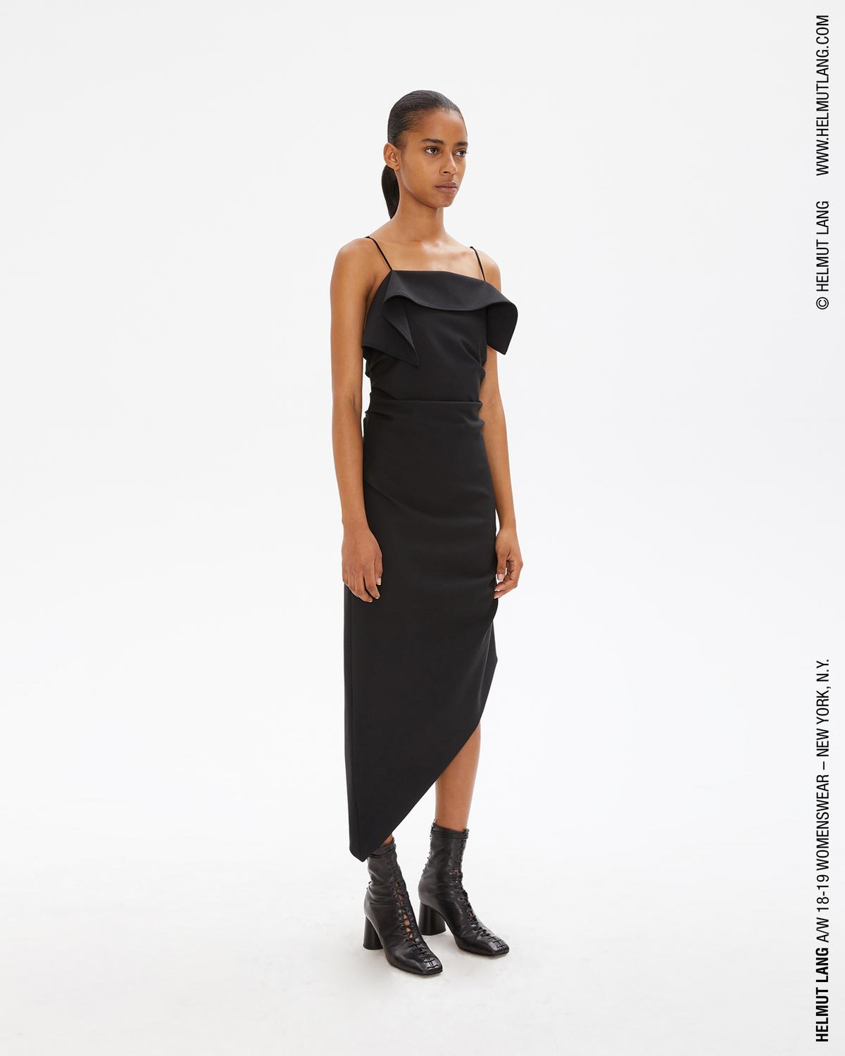 Asymmetric Wool Dress