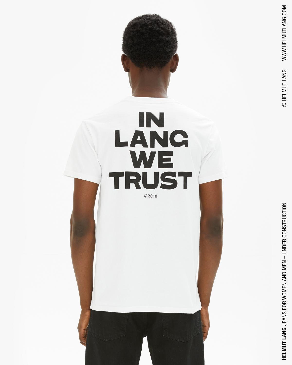 In Lang We Trust Little Tee With Back Print