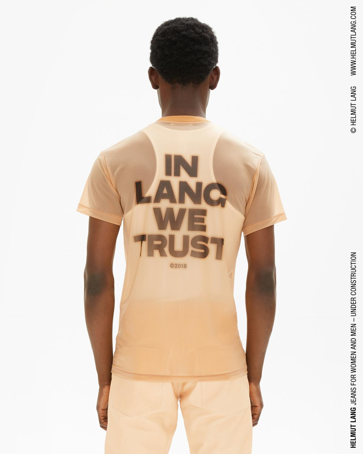 In Lang We Trust Organza Little Tee With Back Print