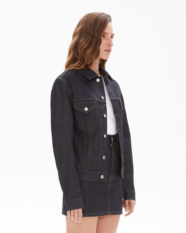 nouveau produit 7d091 aefe2 Femme Trucker Denim Jacket