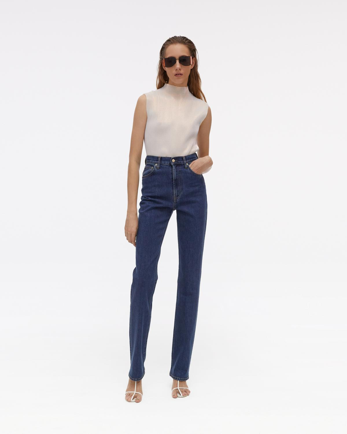 Helmut Lang Femme Hi Bootcut Jeans - Accelerated Mid Stone   WWW ... cdd96679ab81