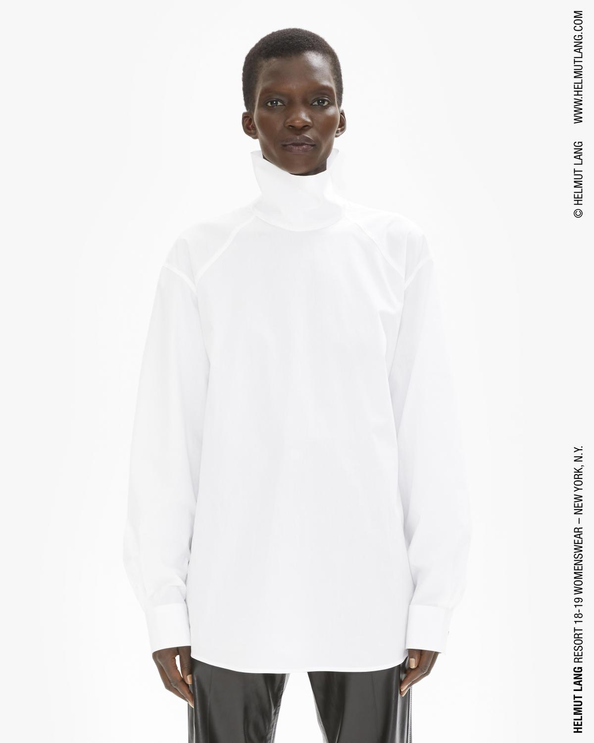 HIGH NECK UTILITARIAN SHIRT