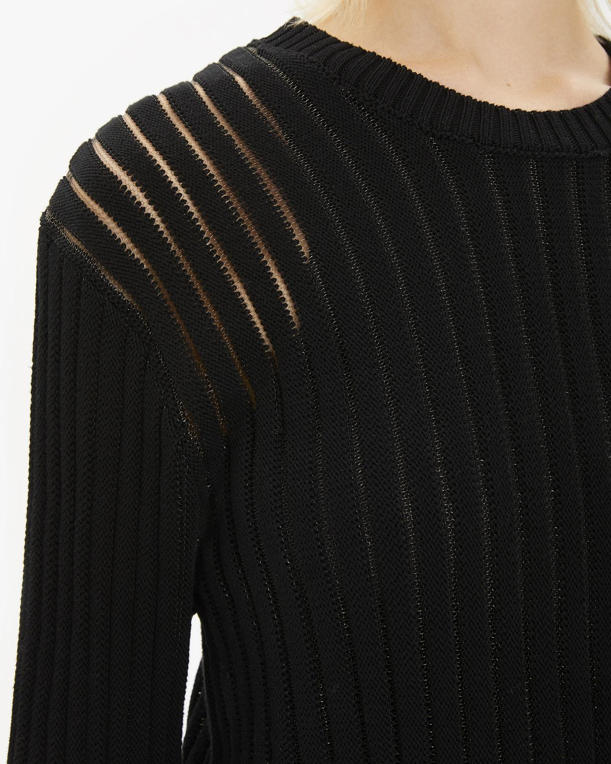 Transparent Stripe Crewneck Sweater