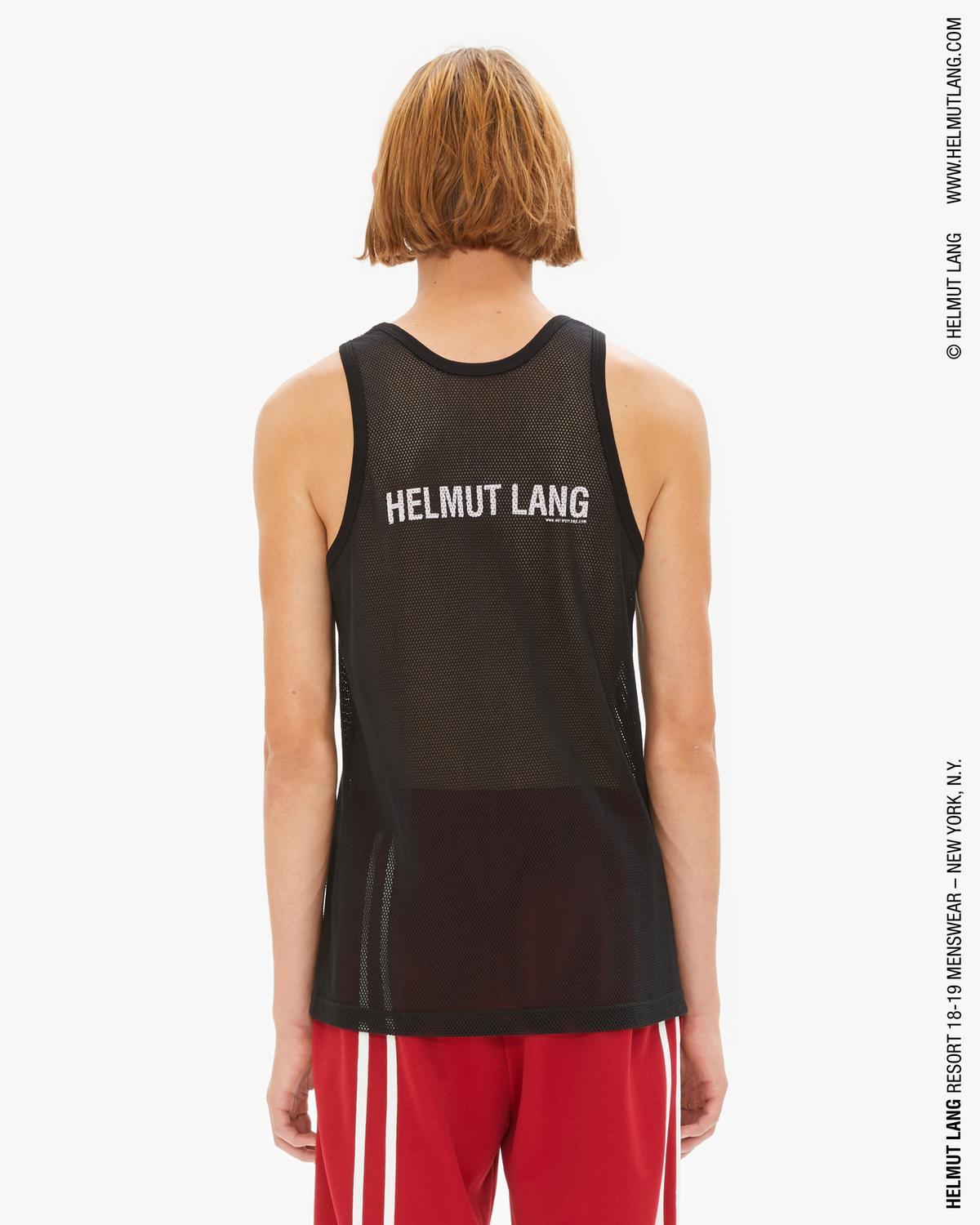 MESH LOGO BACK TANK TOP