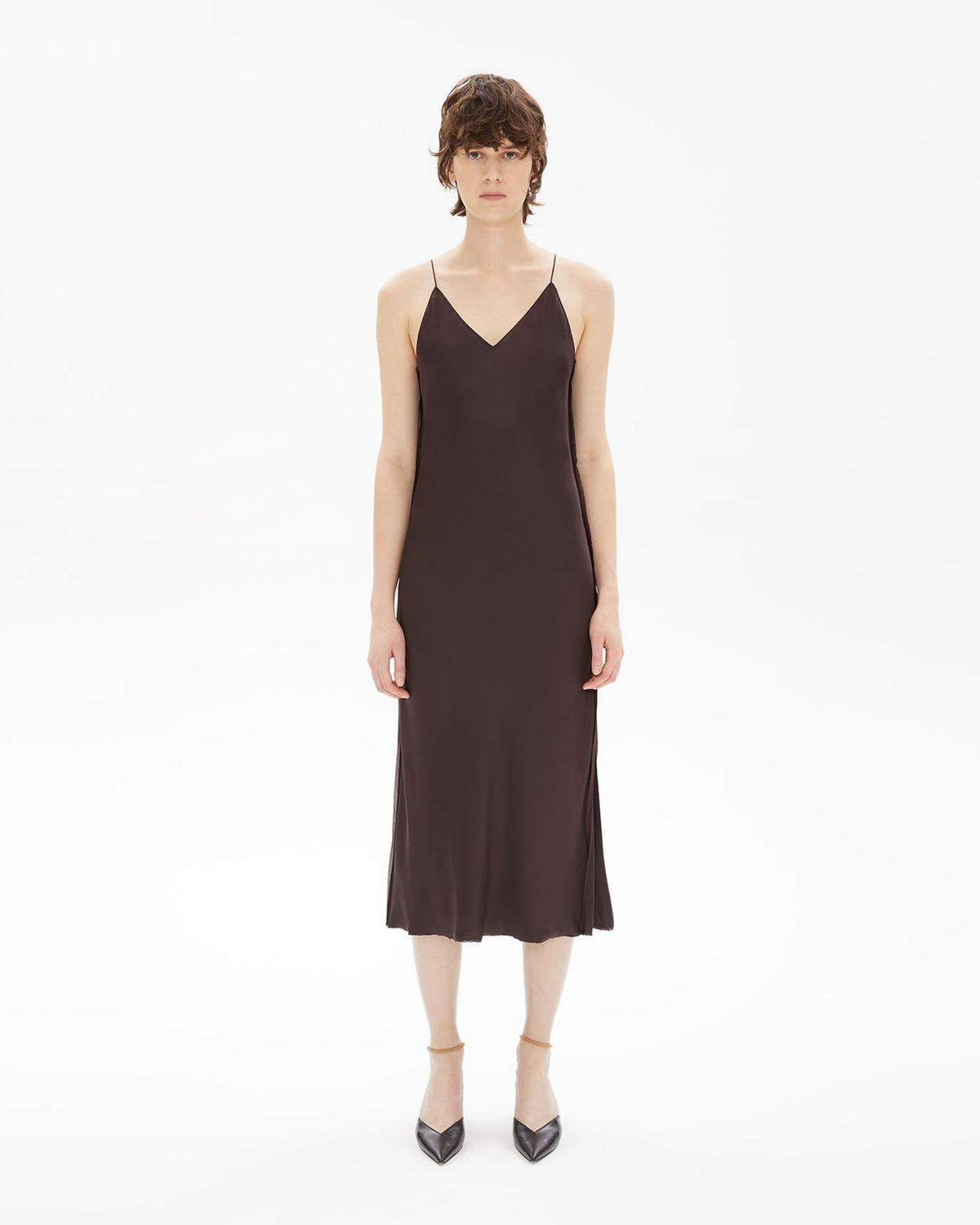 Raw Detail Slip Dress