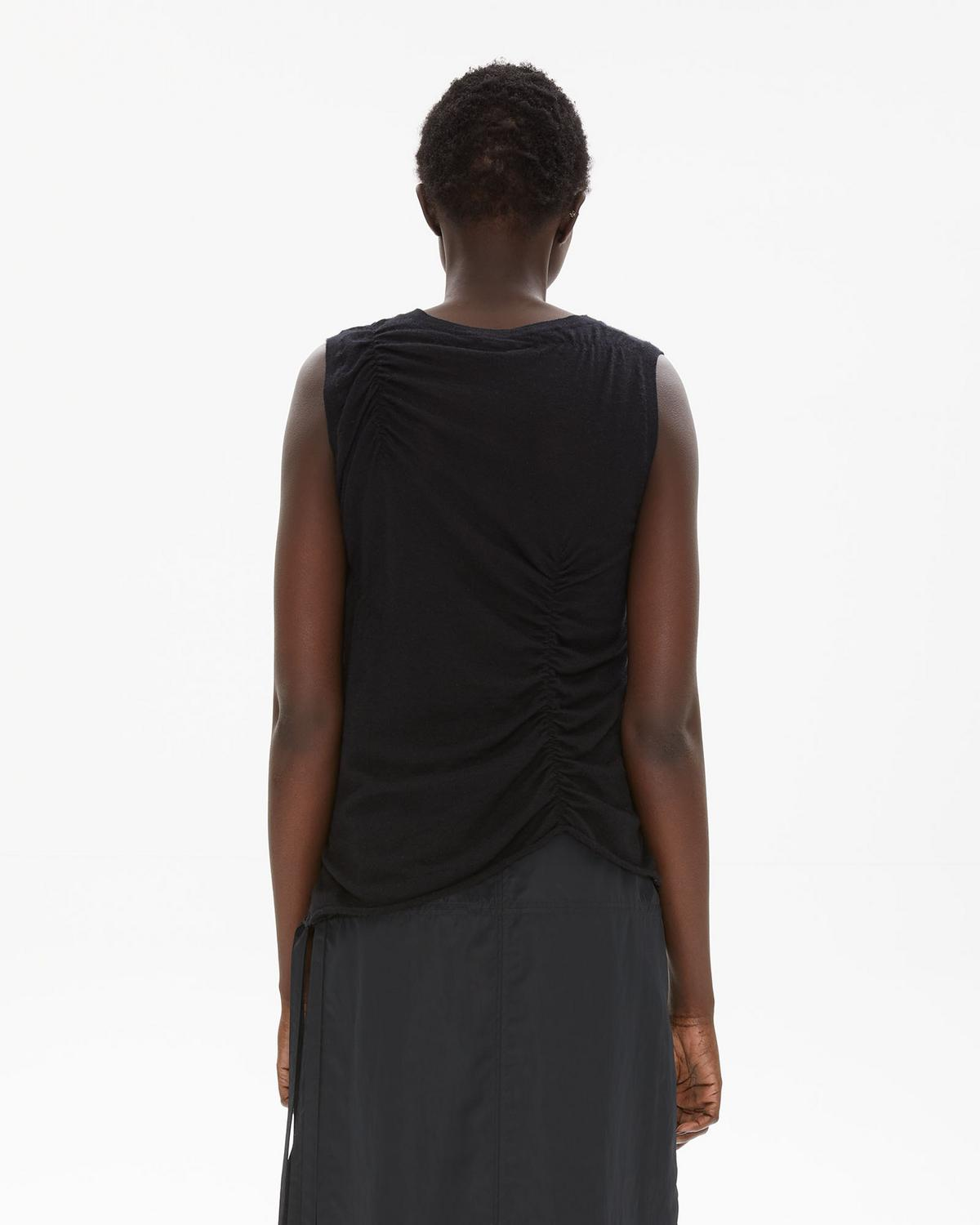 Elasticated Cashmere Tank Top