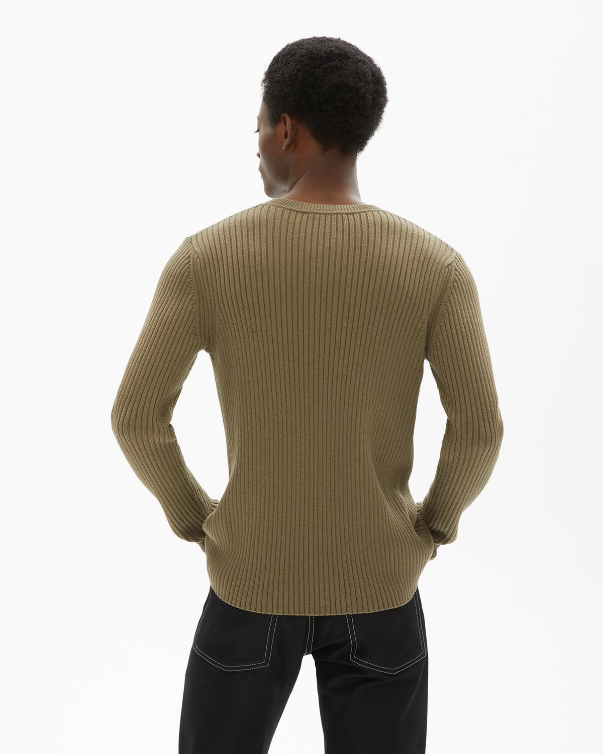 Mixed Rib Crewneck Sweater