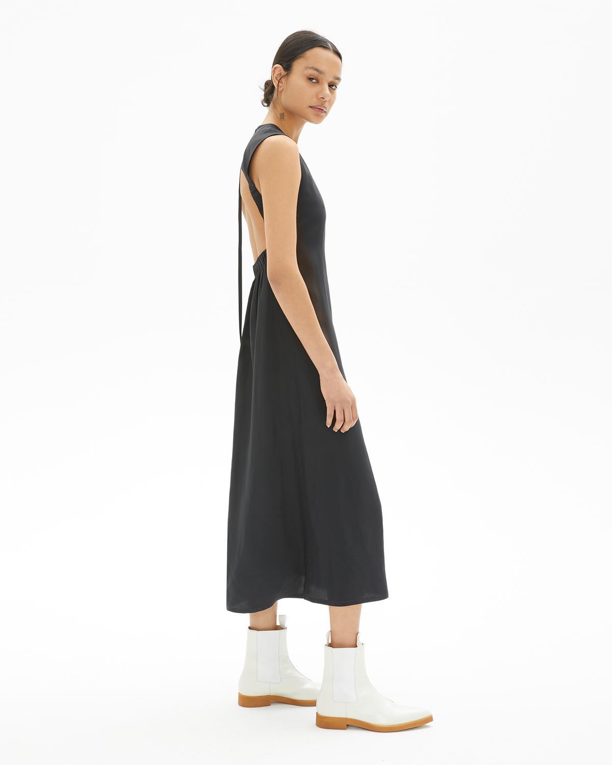 Back Open Tank Full Length Dress