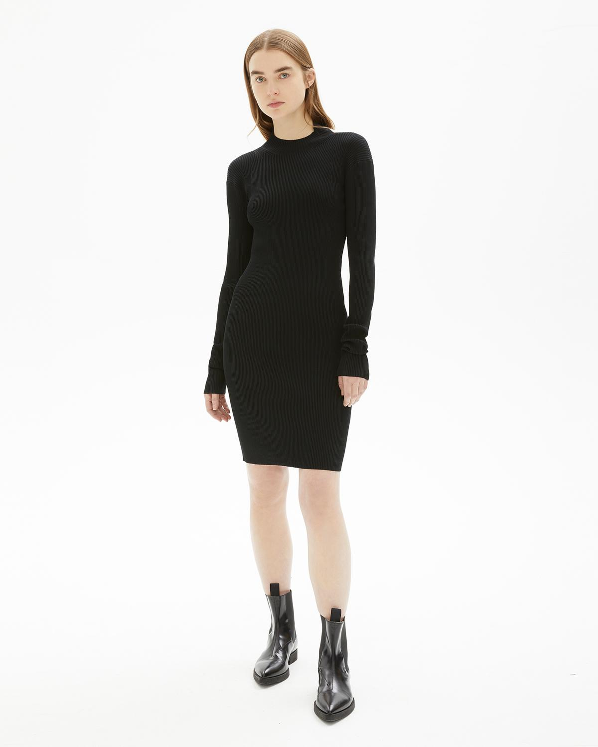 VISCOSE STRETCH OPENBACK DRESS