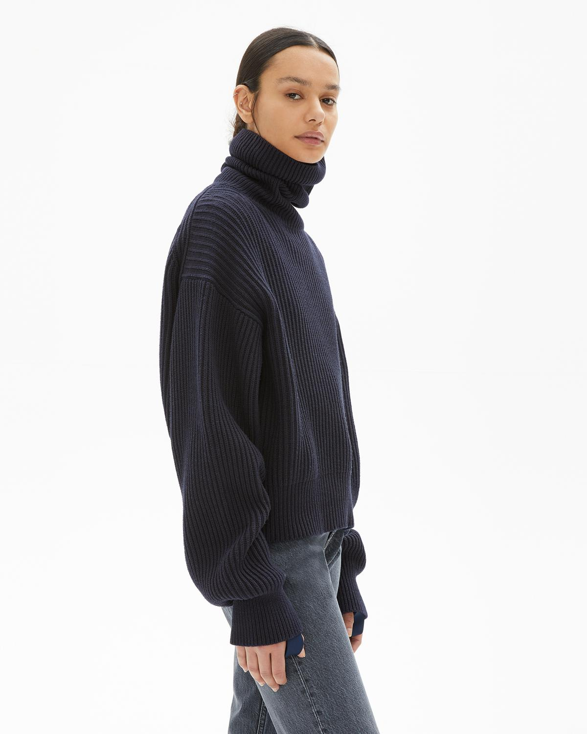 WOOL COTTON TURTLE NECK