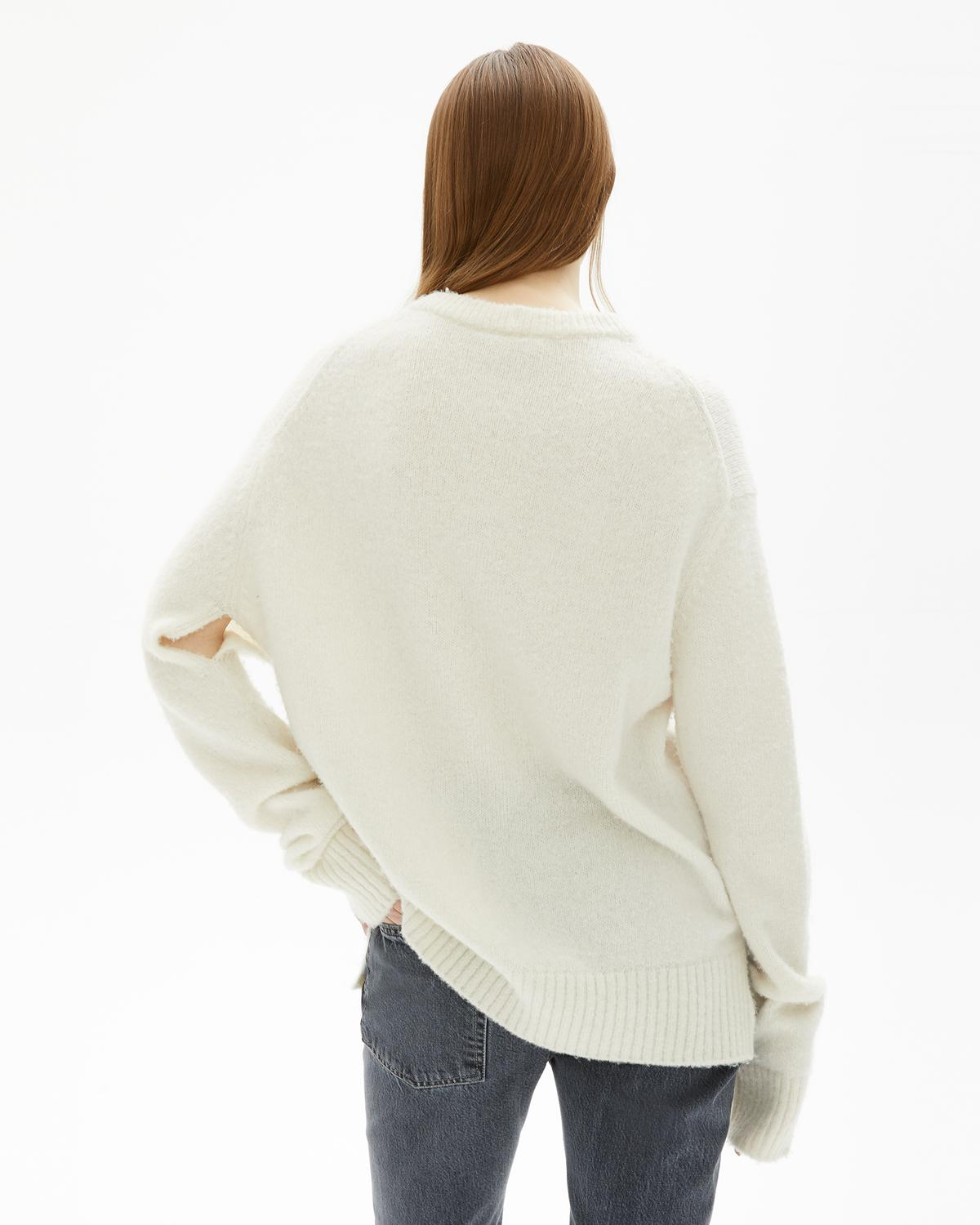 Brushed Alpaca Open Underarm Crewneck