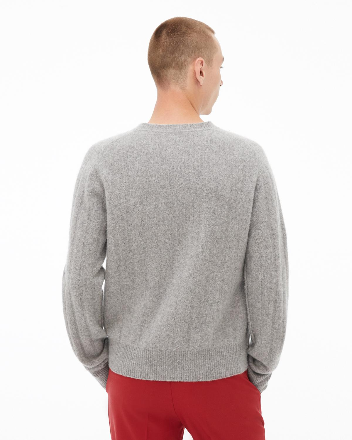Long Sleeve Felted Crewneck