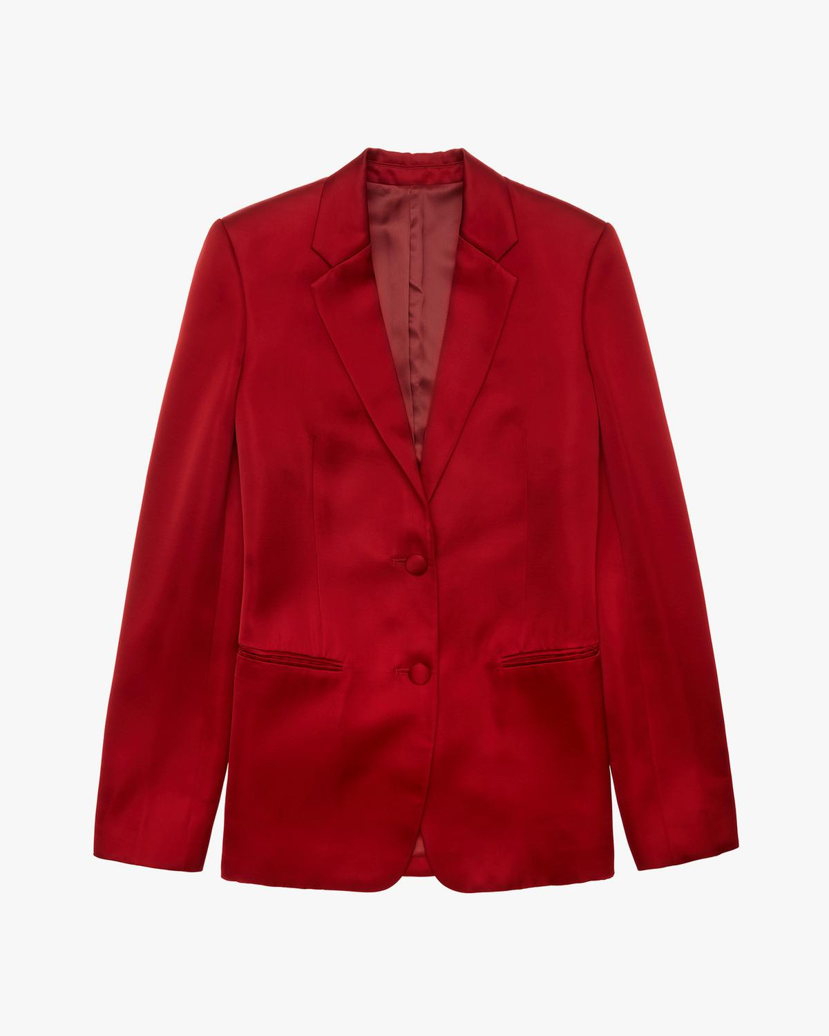 Two Button Satin Blazer