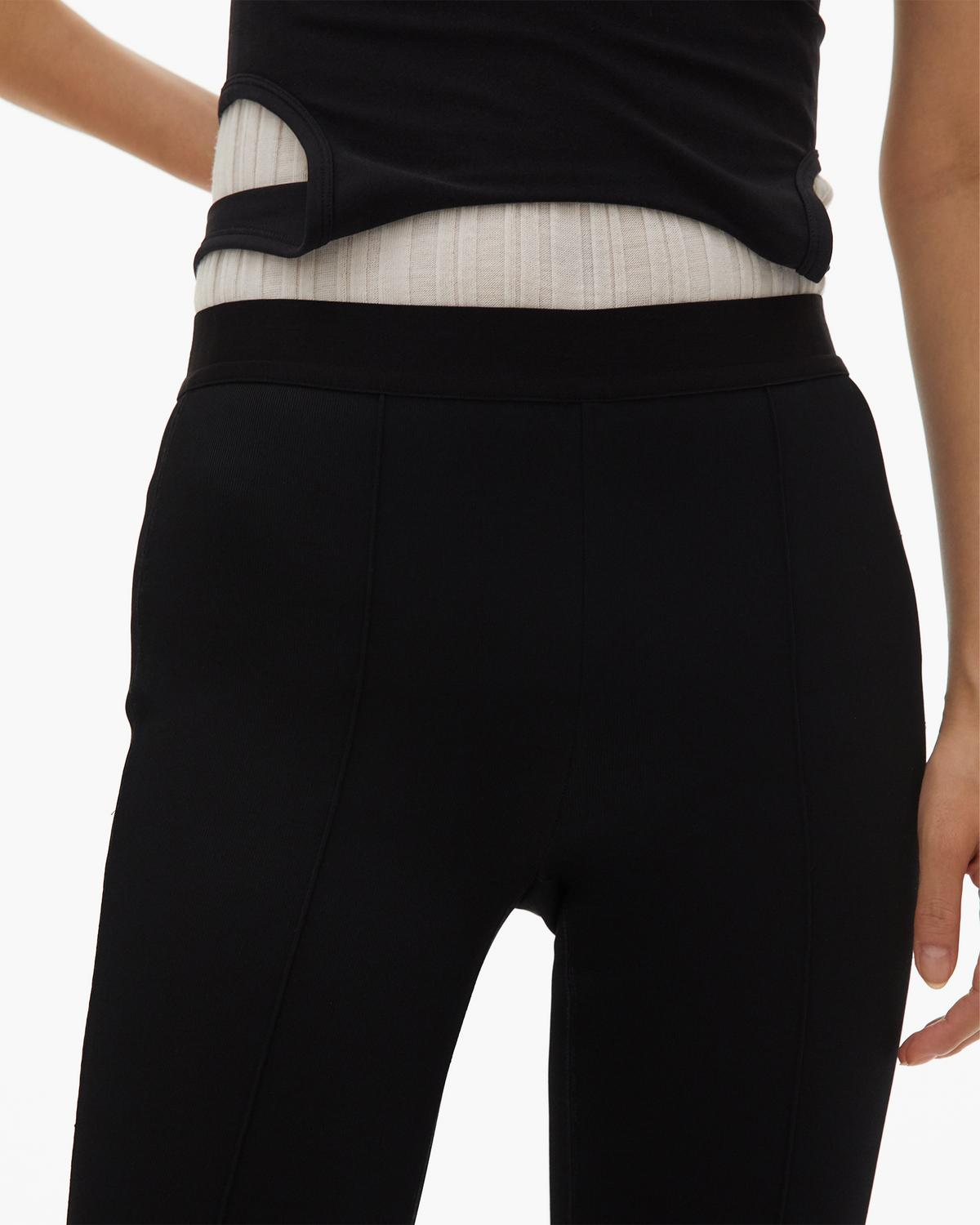 Double Needle Rib Flare Legging