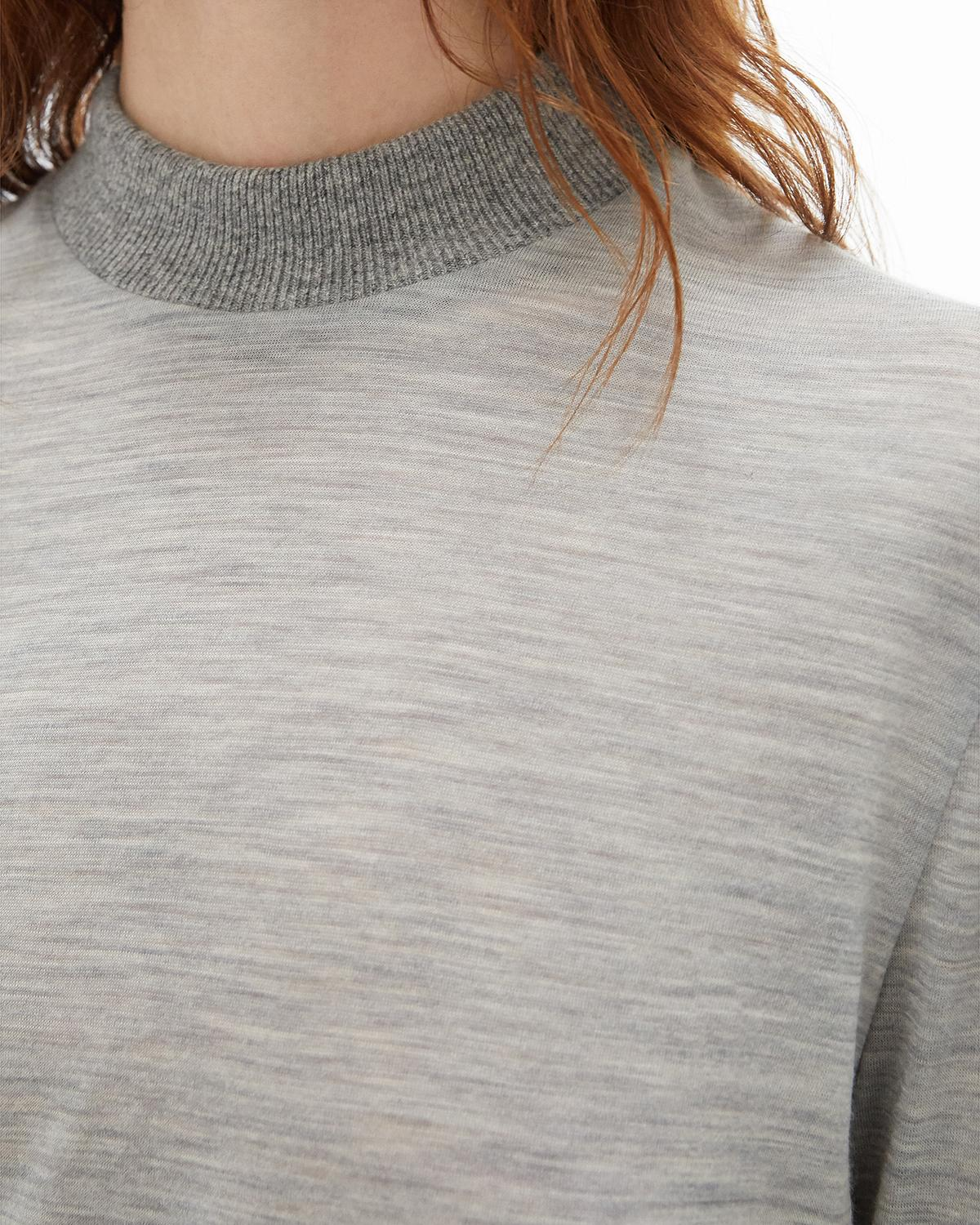 Wool Jersey Mockneck Sweater