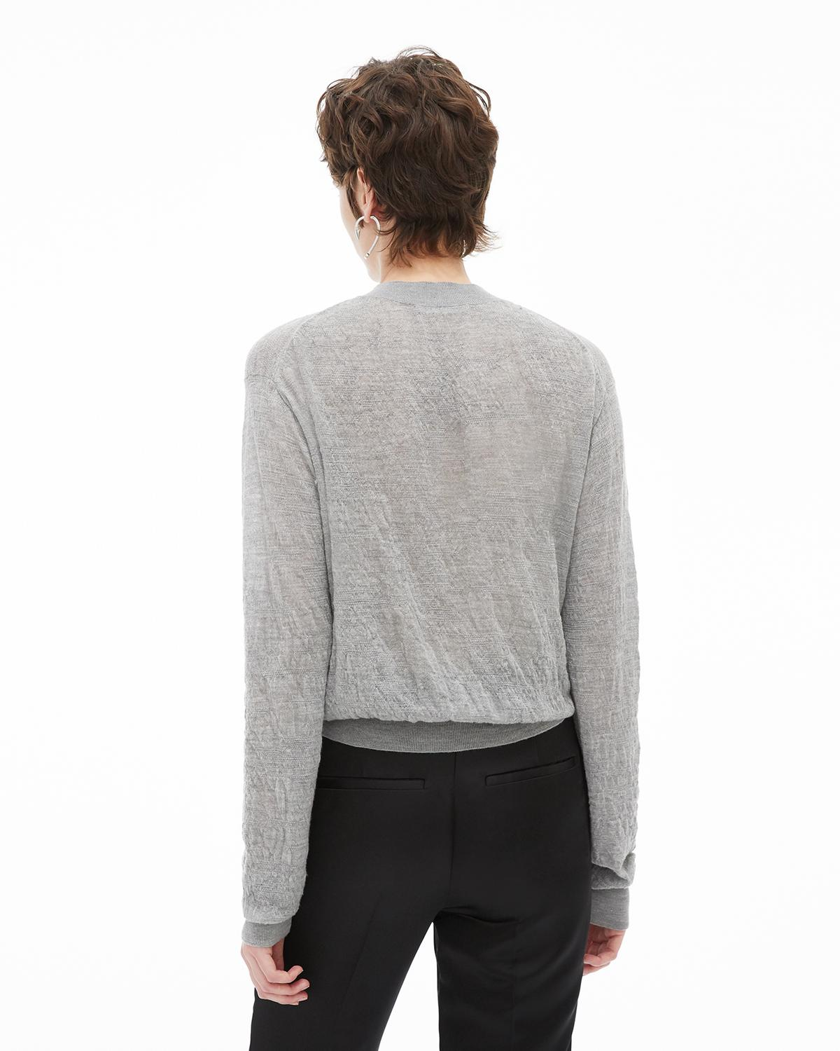 Elasticated Wool Crew Sweater