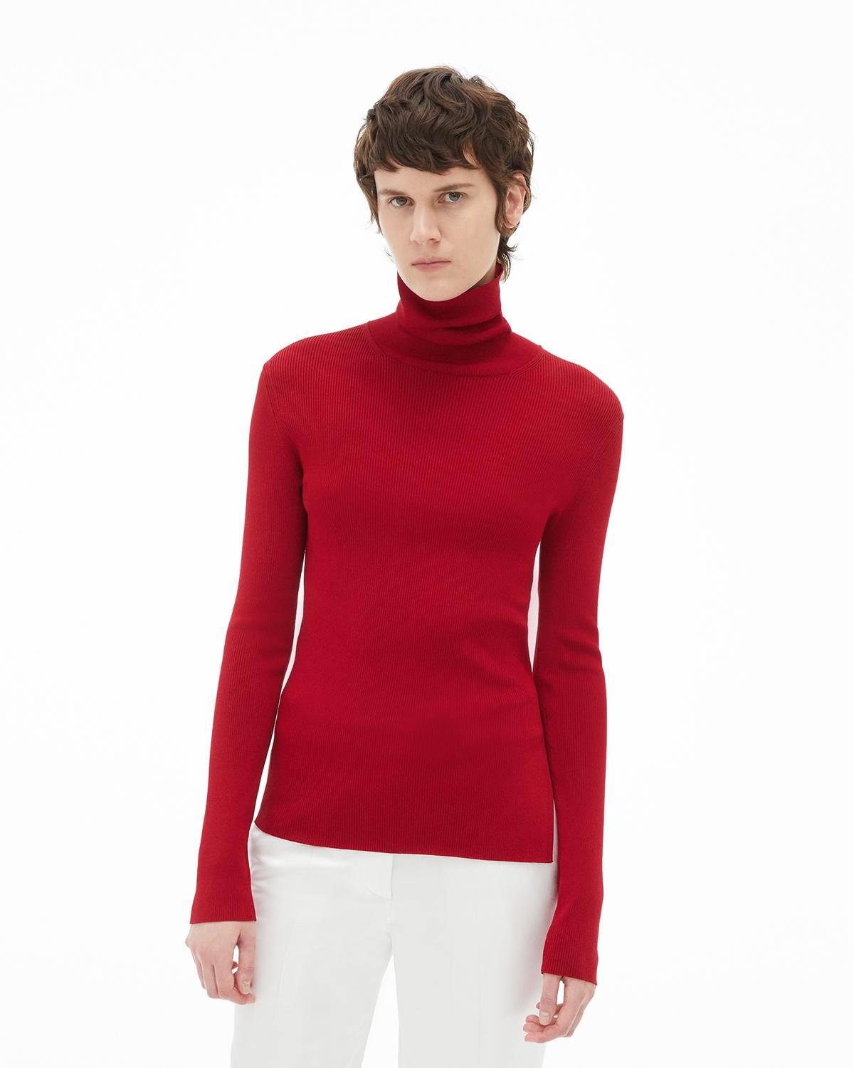 Viscose Stretch Turtleneck
