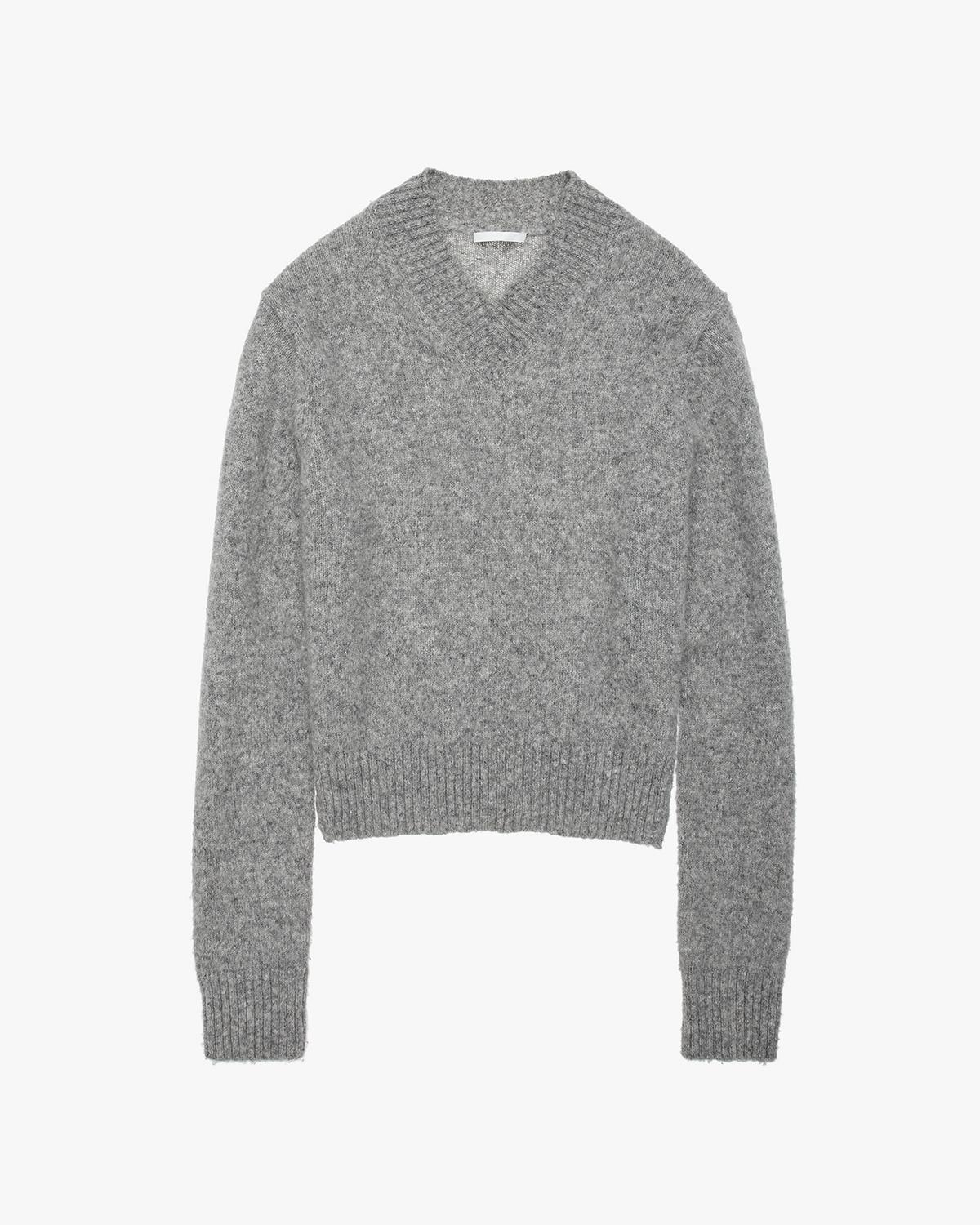 Brushed V-Neck Tie Sleeve Sweater
