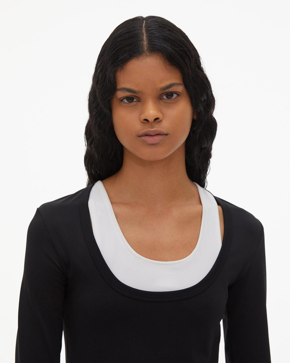 Scoop Neck Jersey Long-sleeved T-Shirt