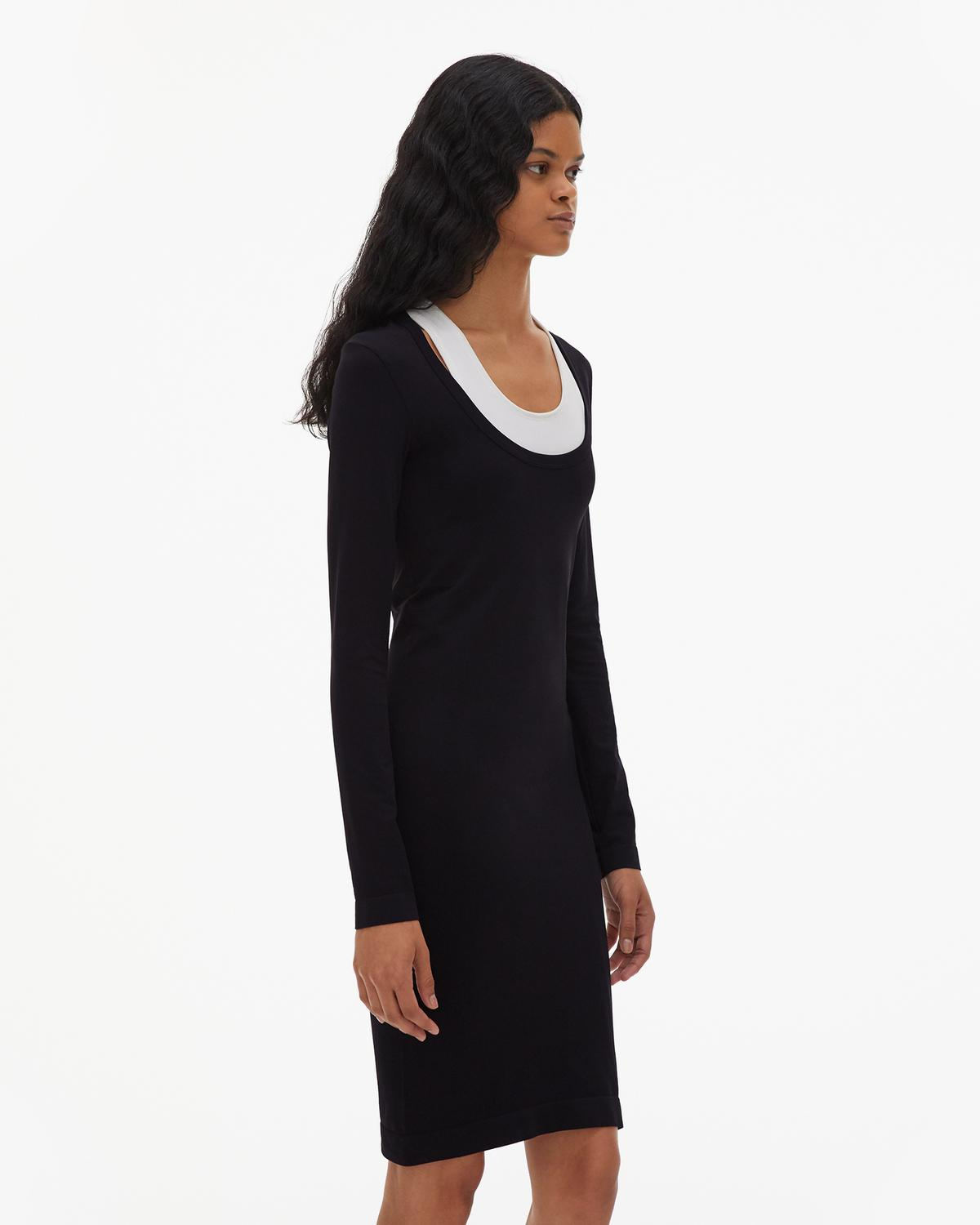 Seamless Jersey Scoop Neck Dress
