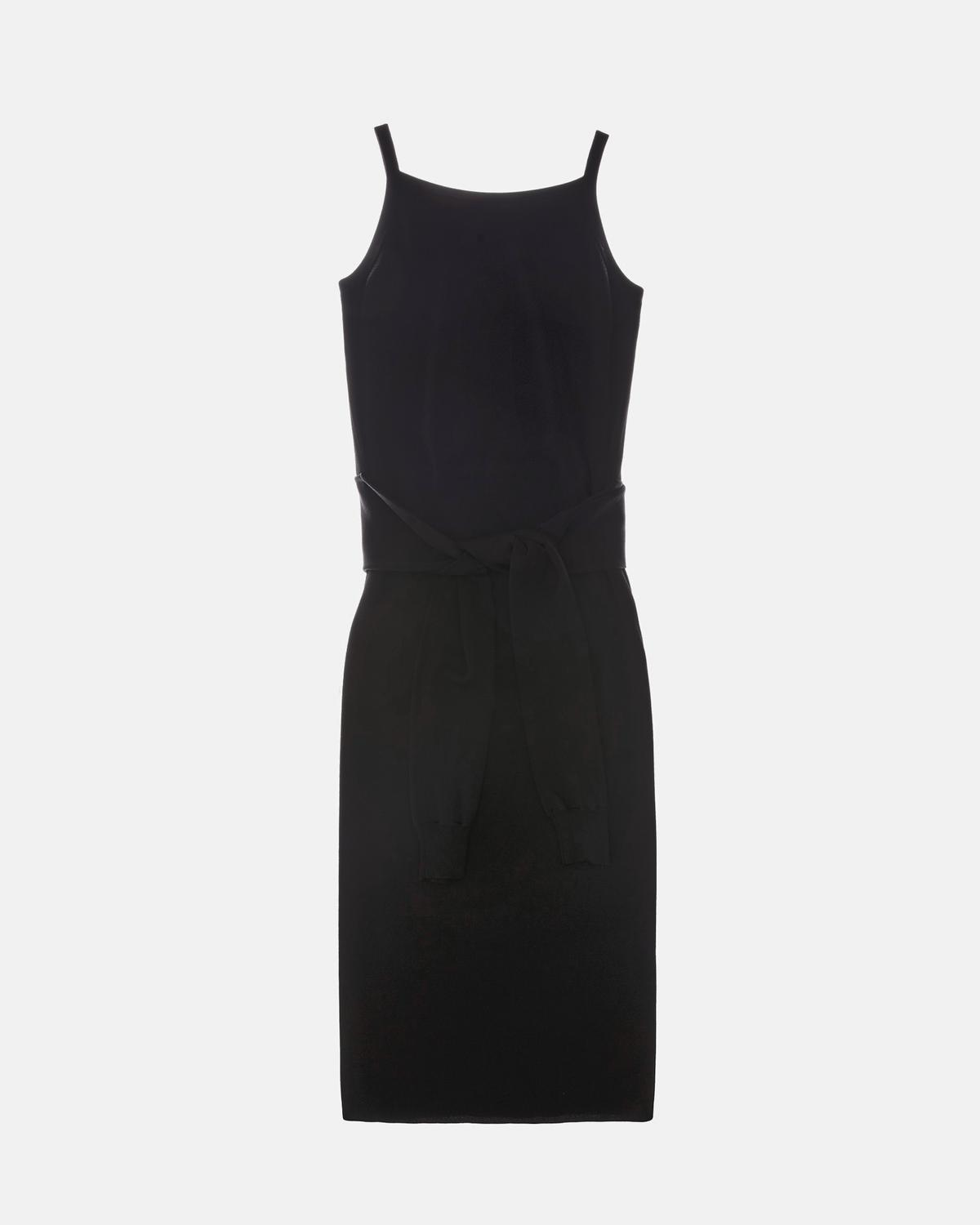Rayon Tie Waist Dress