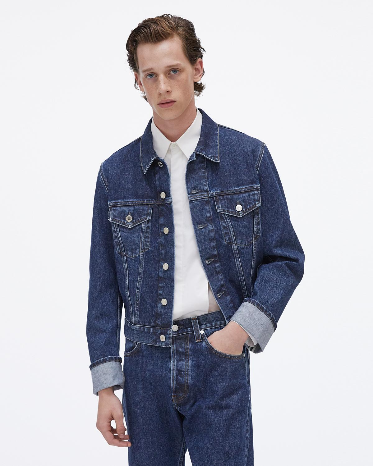 Cuffed Monogram Masc Trucker Jean Jacket
