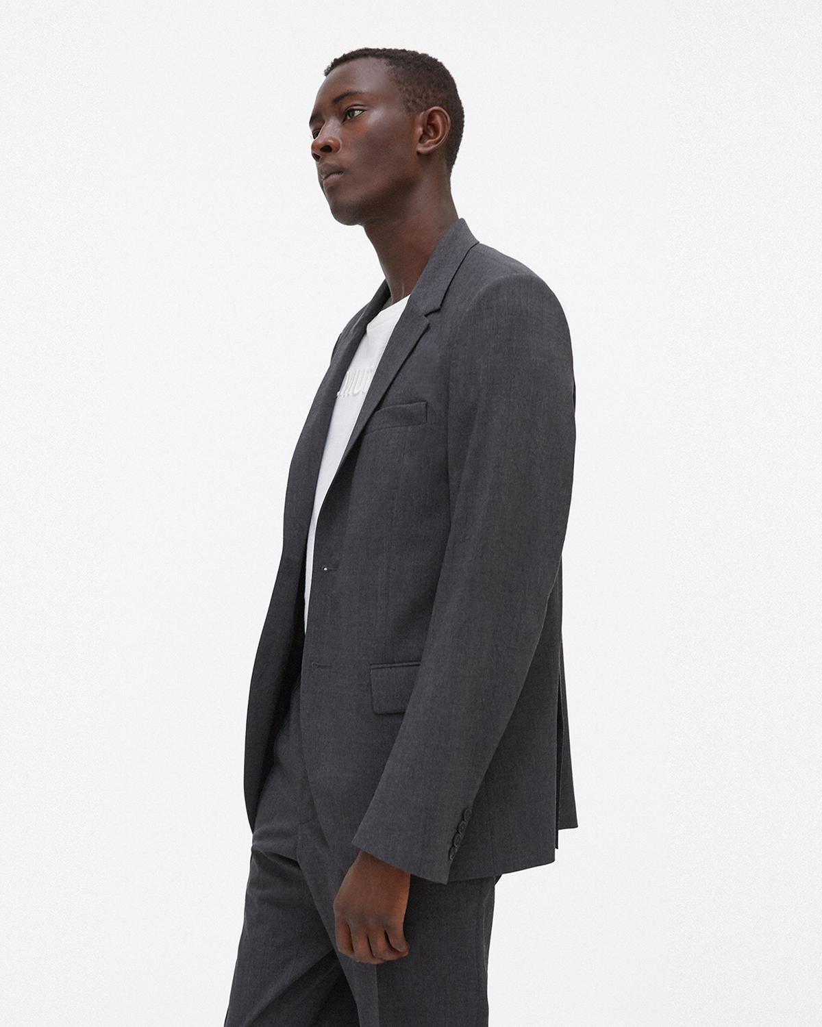 Crushed Two-Button Suit Jacket