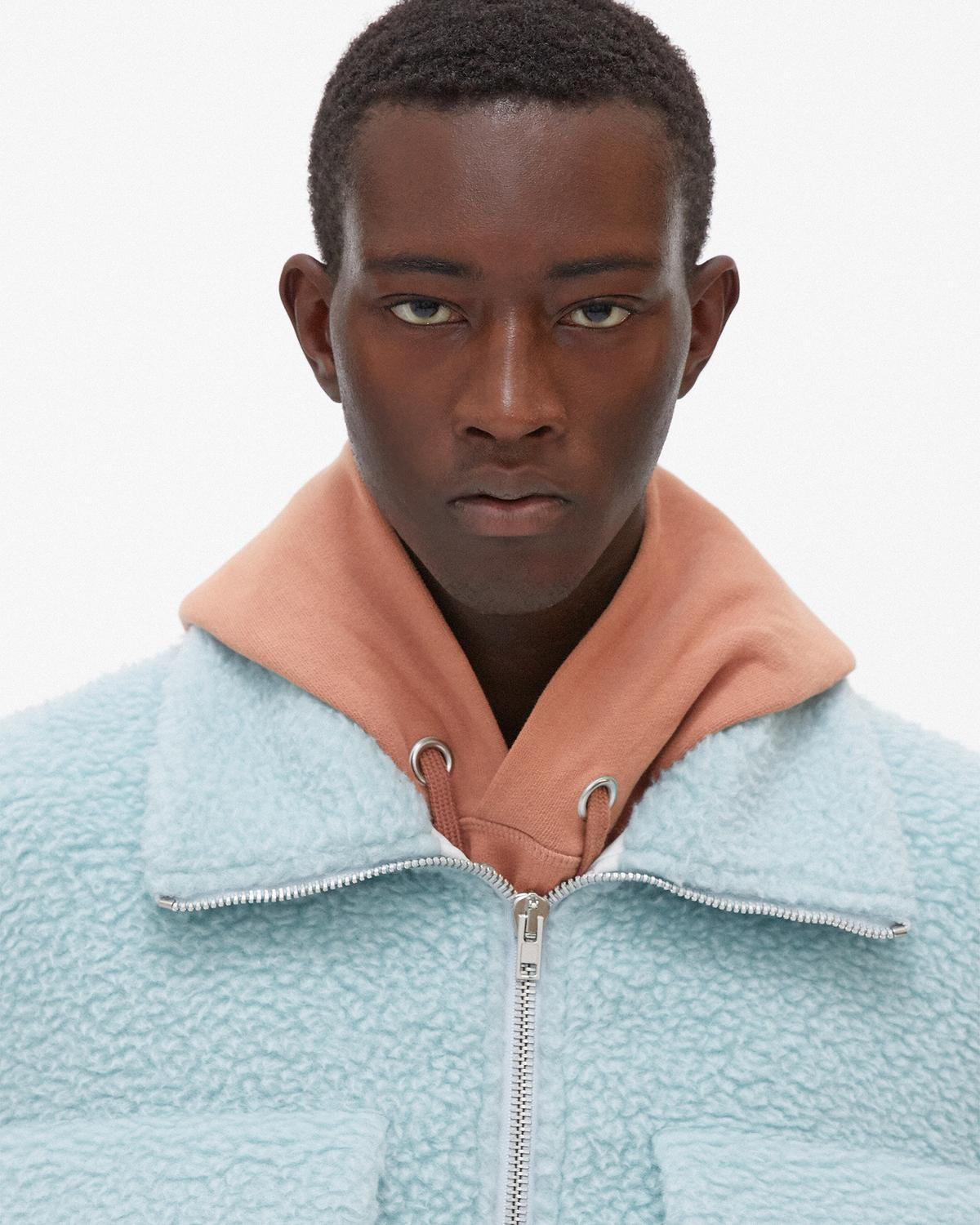 Oversized Teddy Zip-Up Jacket