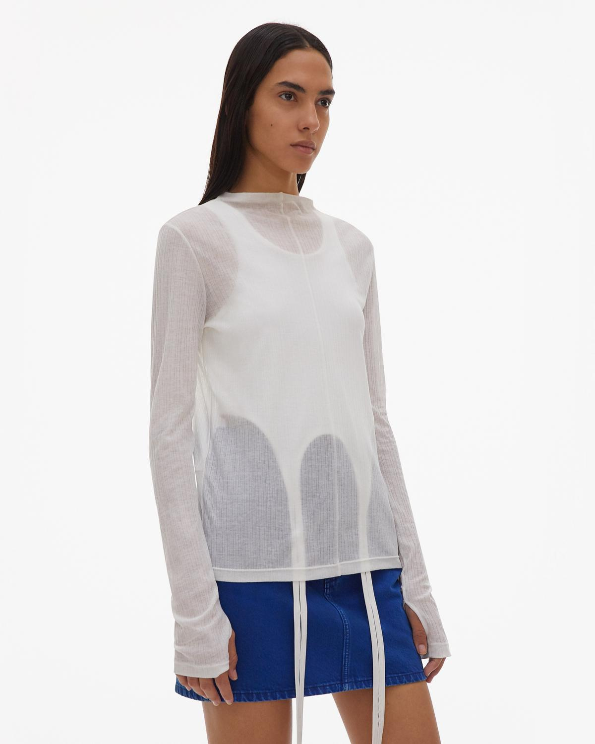 Sheer Longsleeve Shirt