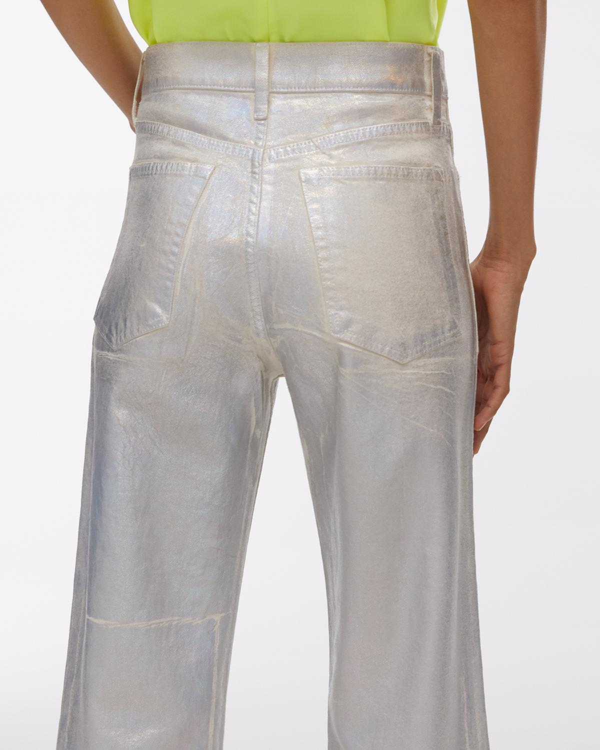 Lacquered Utility Patch Pocket Jeans