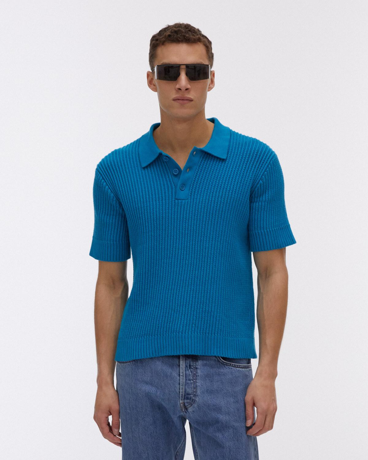 Cable Cotton Polo Shirt