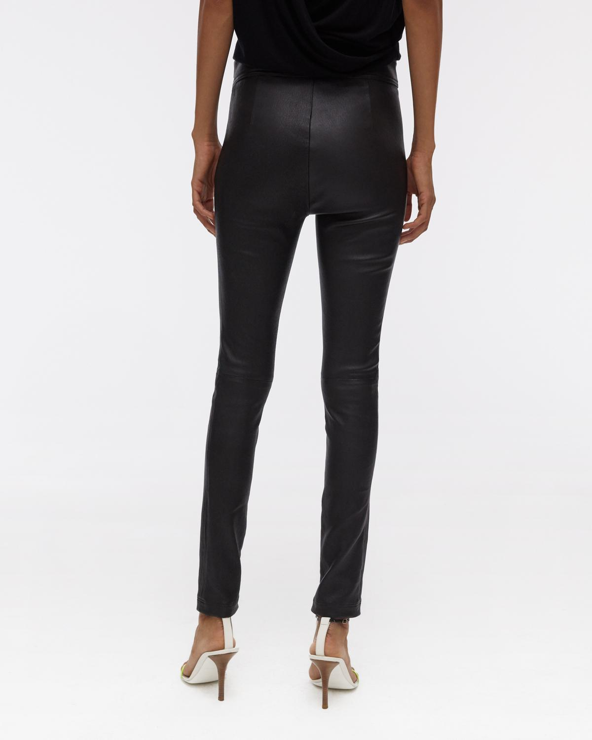 Side Zip Leather Legging