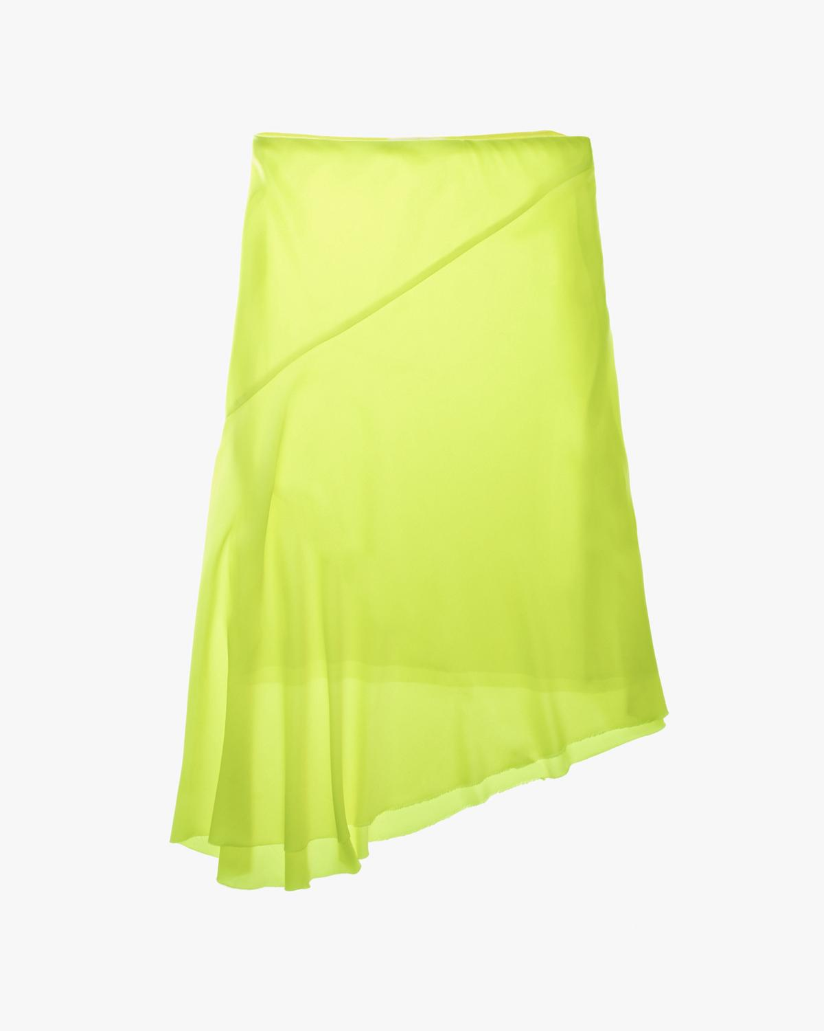 Double Satin Asymmetric Skirt