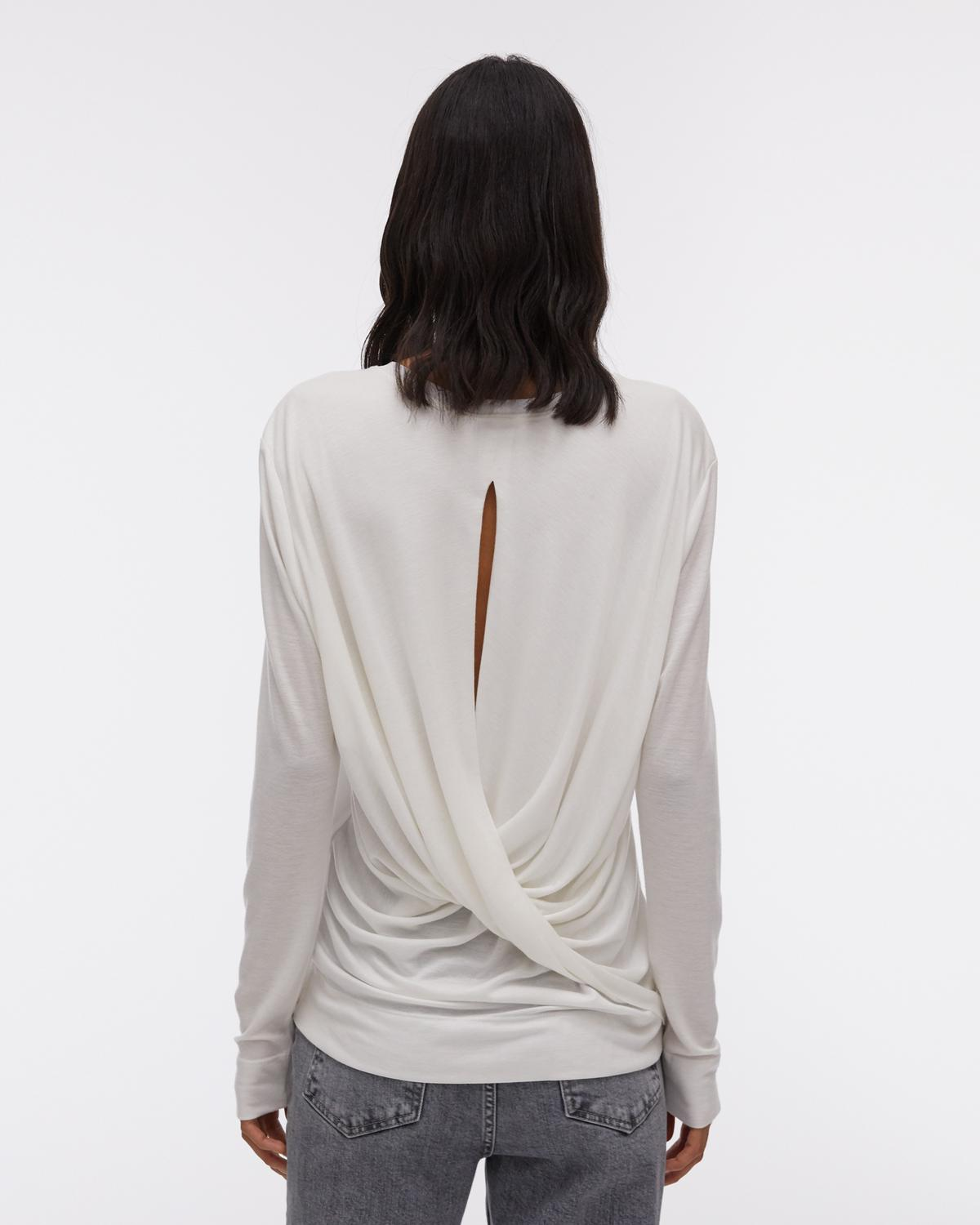 Twist Back Jersey Long-sleeved Top