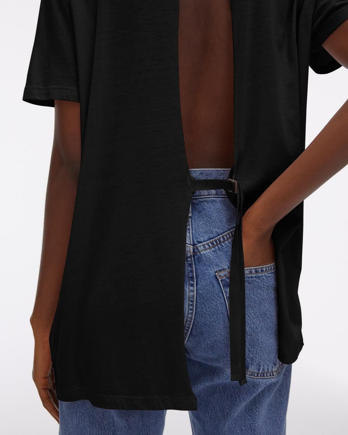 Open Tie-Back Shortsleeve Tee
