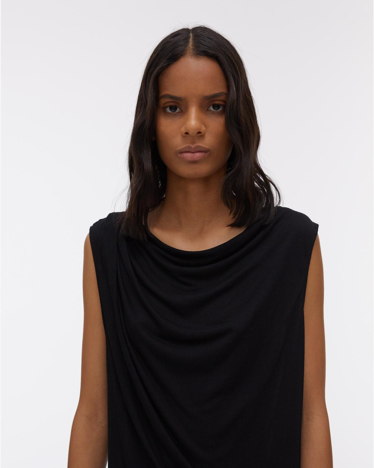 Open Back Sleeveless Jersey Top