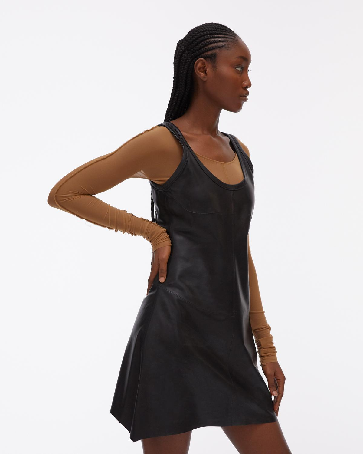 Stain-proof Leather Tank Dress