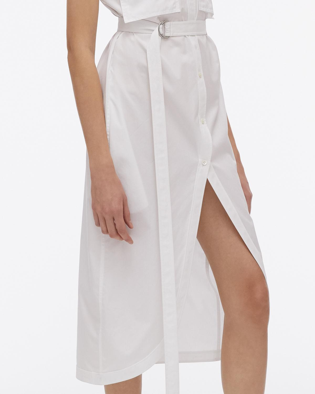 Cotton Shirt Dress with Collar