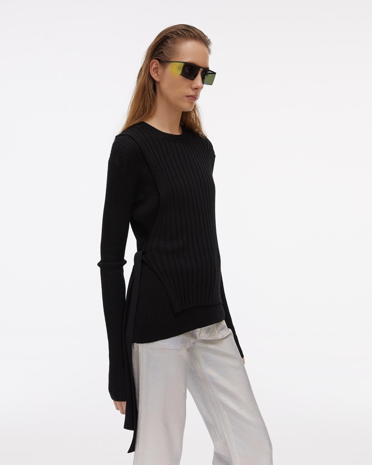 Ribbed Layers Crewneck Sweater