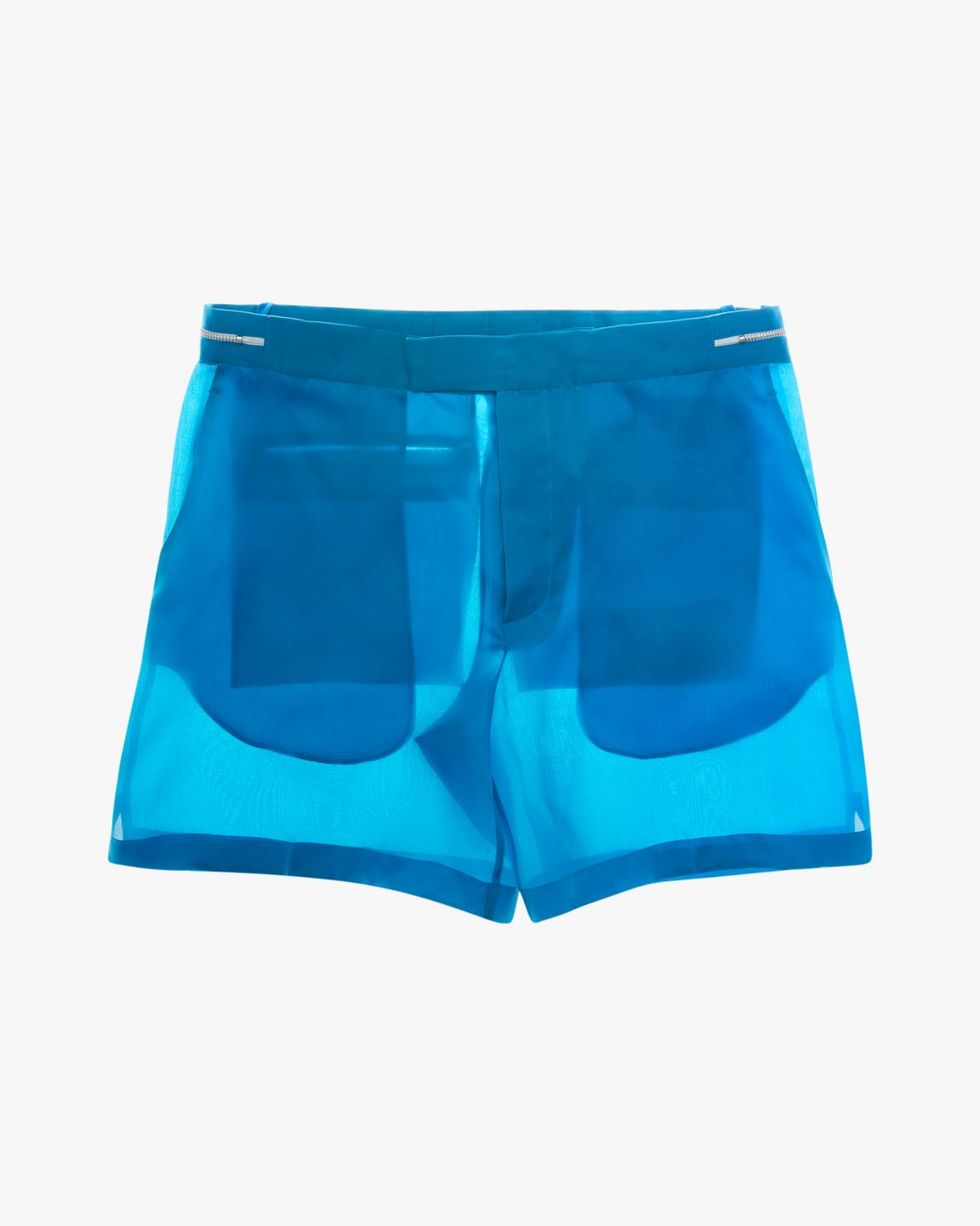 Satin Organza Shorts