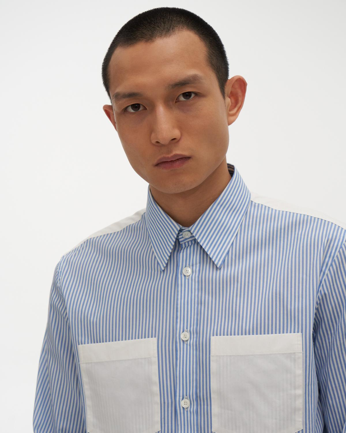 Striped Logo Print Shirt
