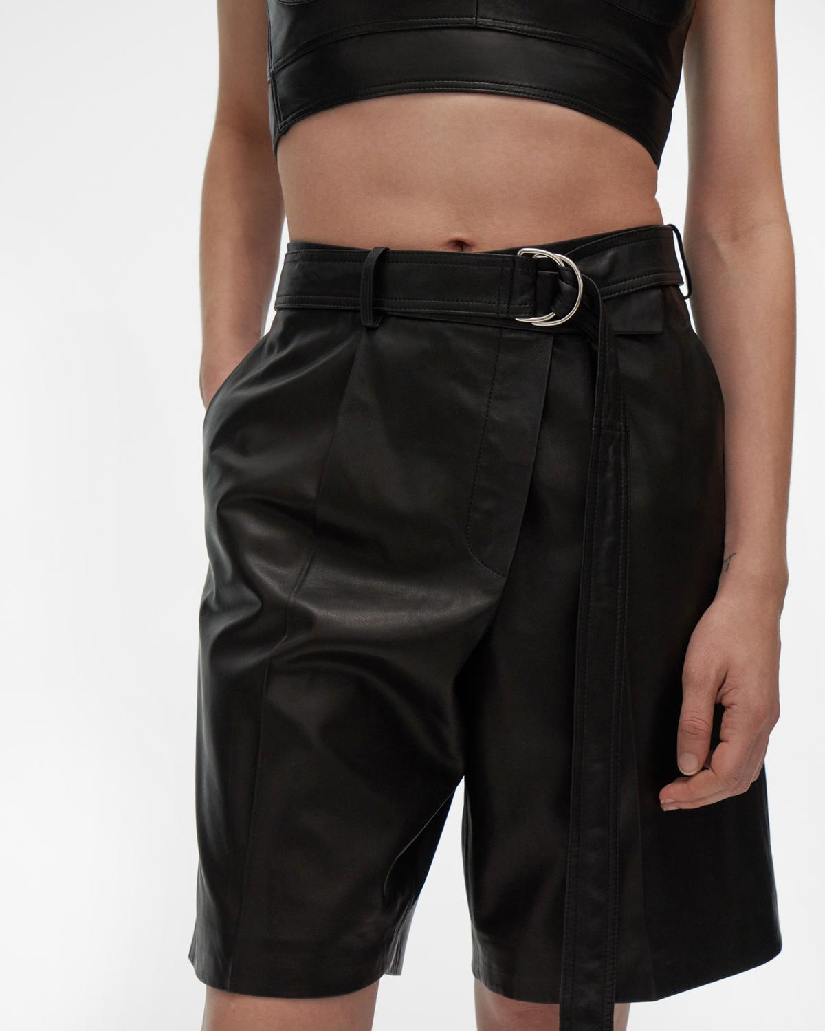 Leather Wrap Short