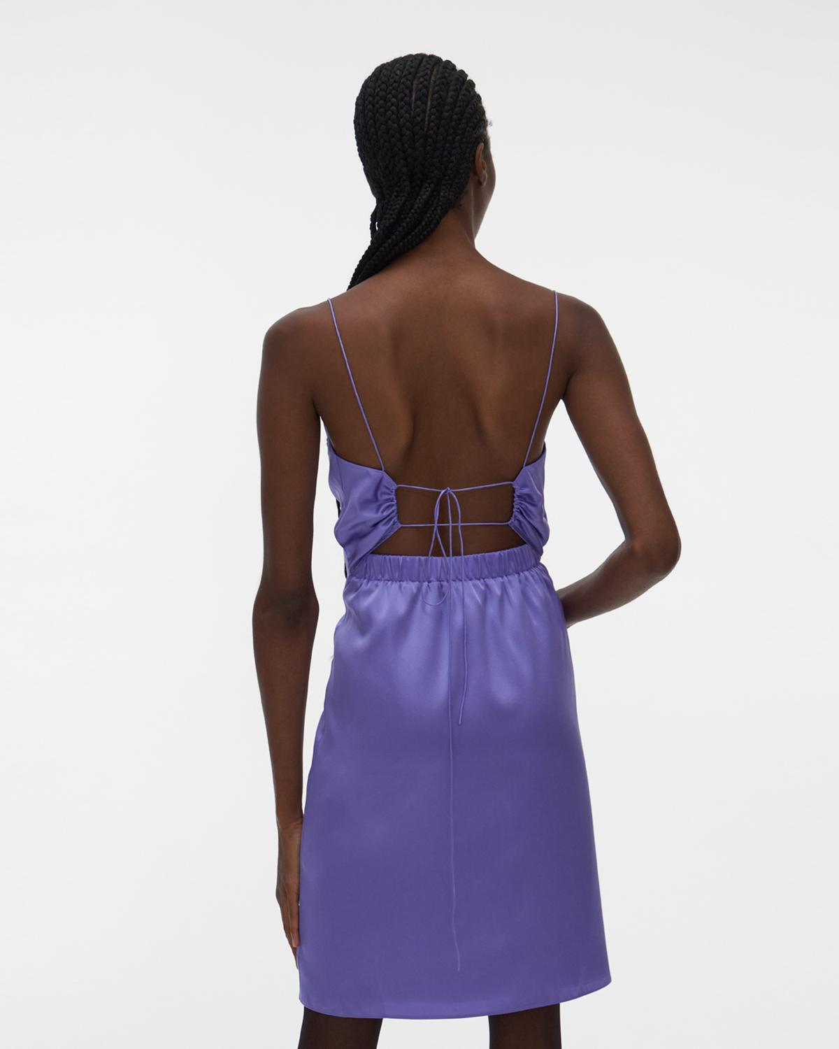 Open-Back Silk Mini Dress