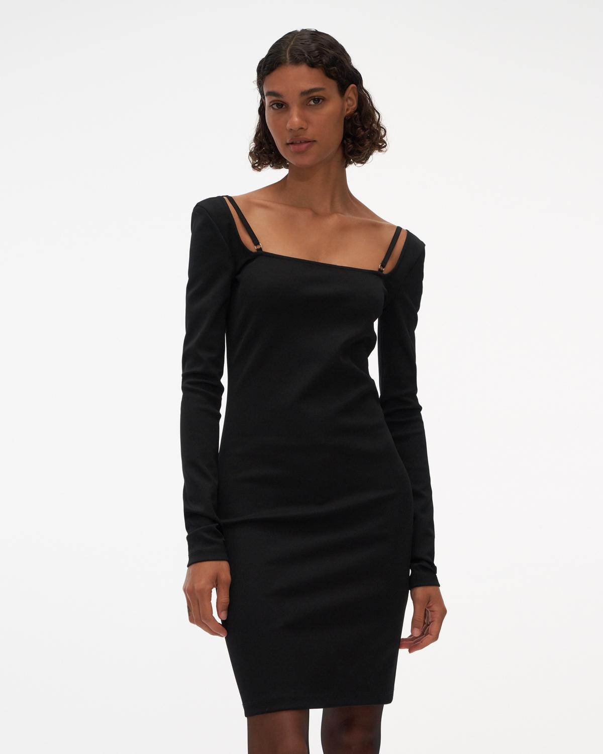 Square Neck Rib Dress