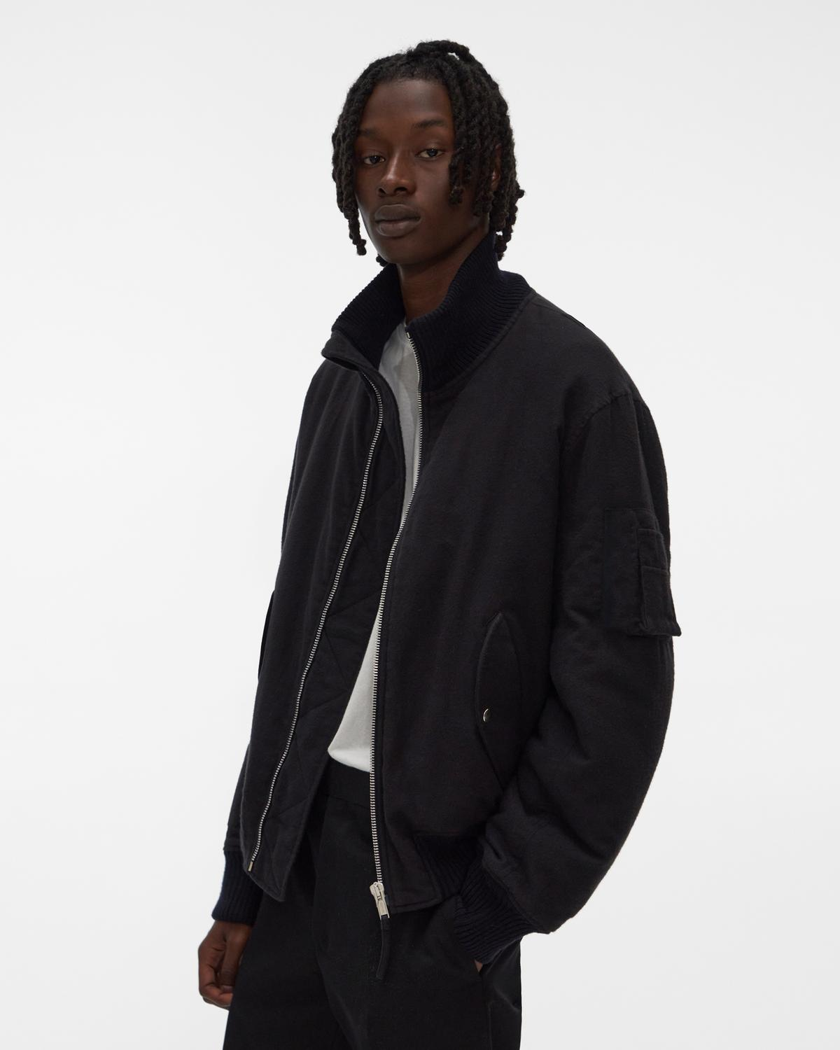 Strapped Bomber Jacket