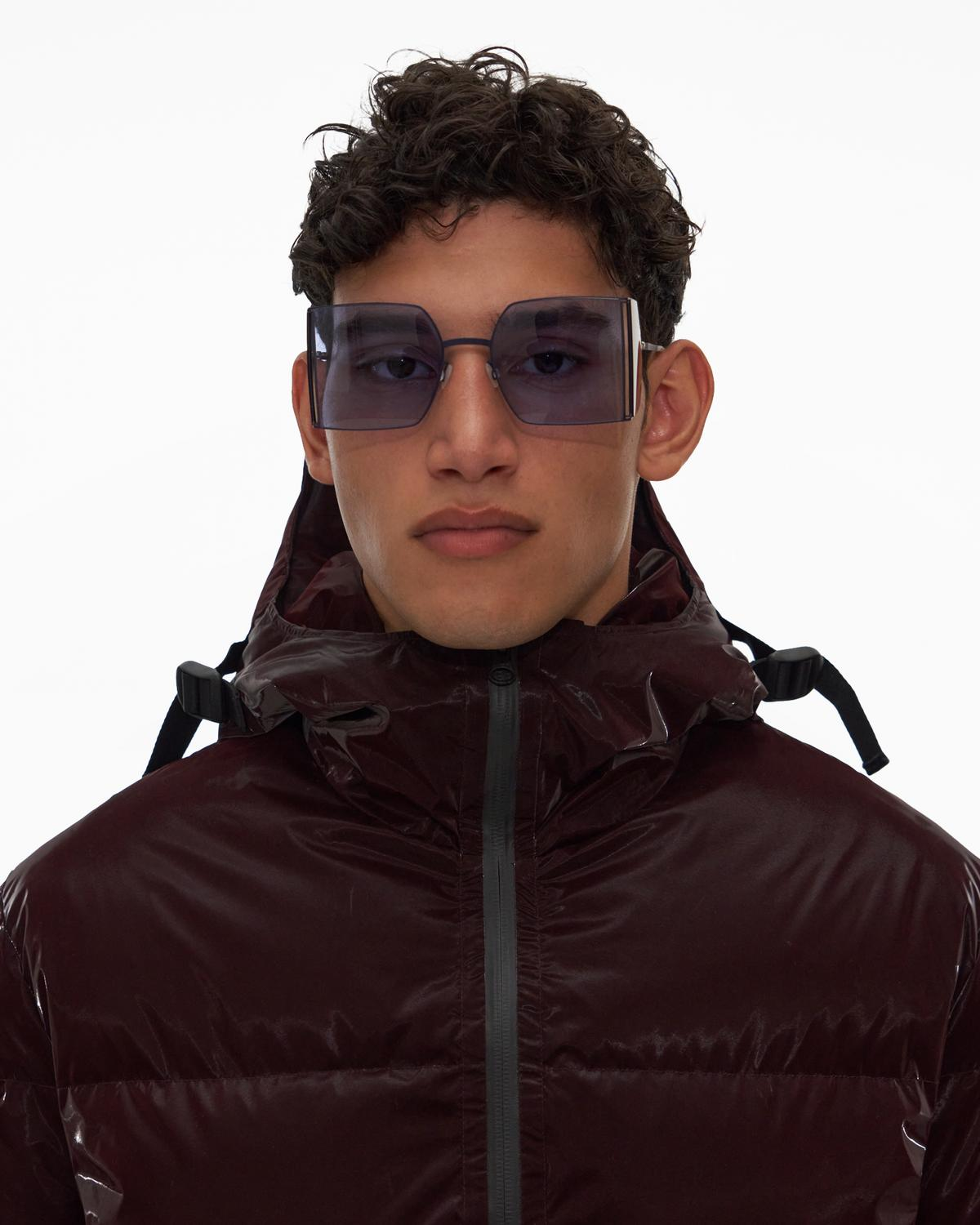 Liquid Nylon Puffer Coat