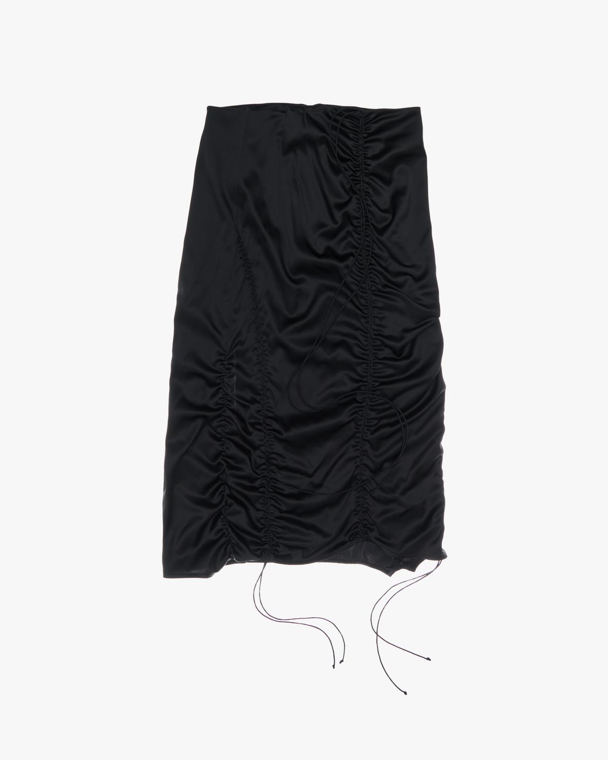 String Satin Skirt