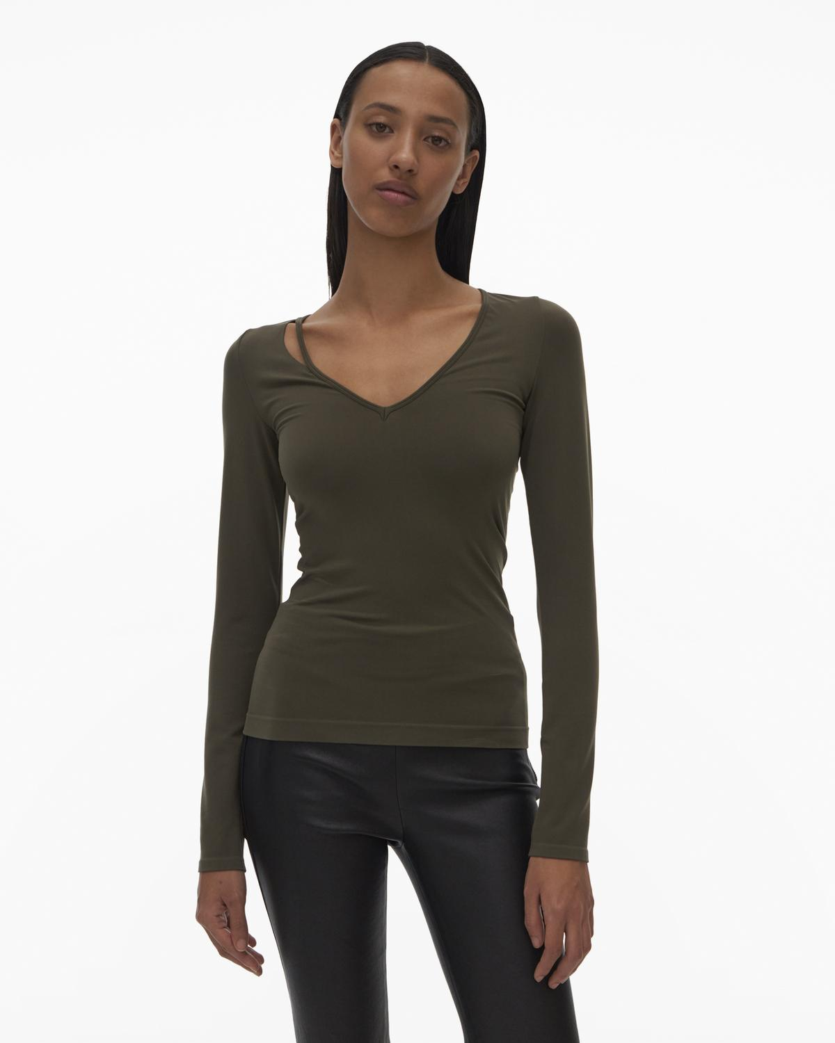 Slash V Neck Top